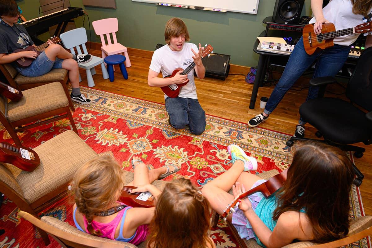 Brennan McShane ukulele class