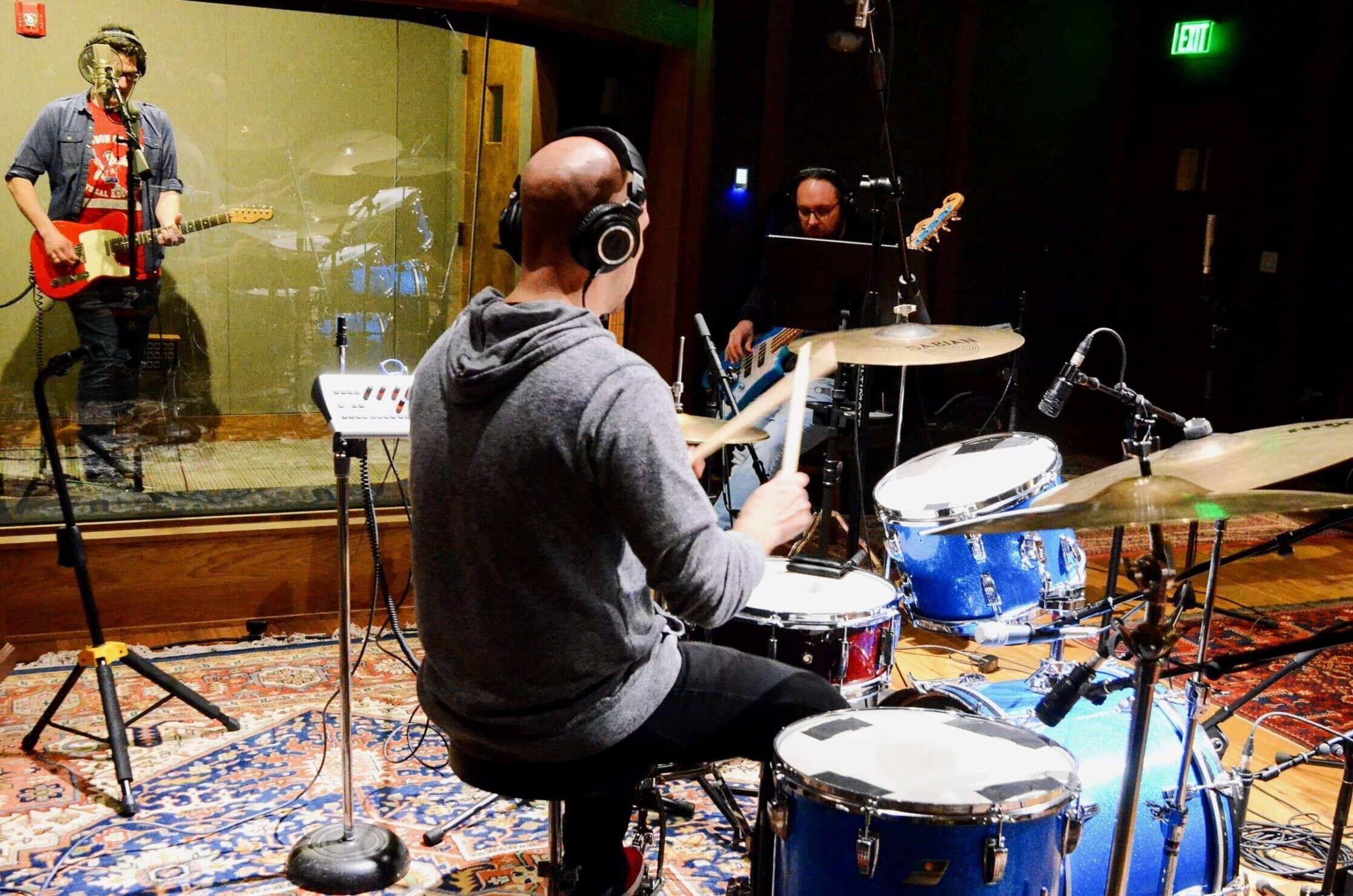 Matt Hutchison in the studio