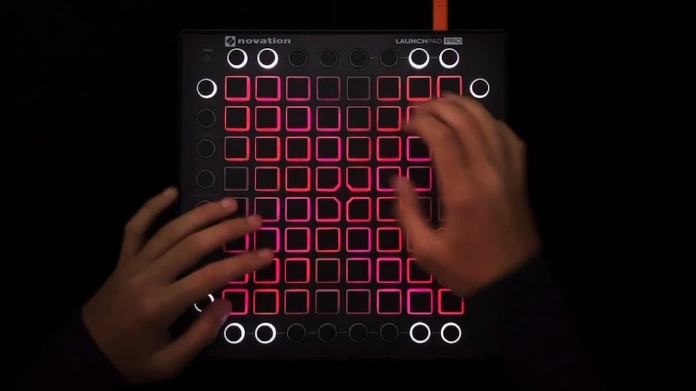 Student uses a launchpad
