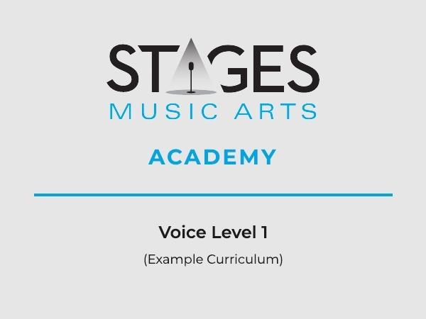 Voice Level 1 Example Curriculum